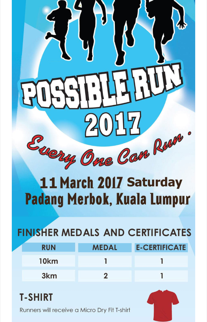 Have fun, get faster & get fitter – KL Possible Run 2017
